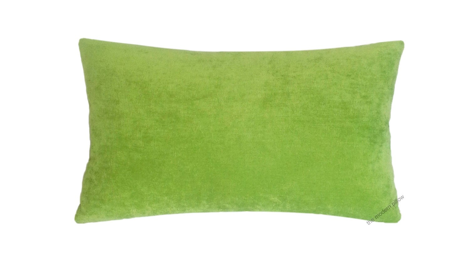 Throw Pillows Linen : Lime Green Velvet Solid Decorative Throw Pillow by TheModernPillow