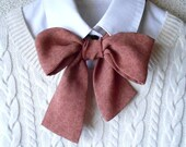 RESERVED for Whitney / Maroon Bow Tie Scarf / Women Neck Accessory / Necktie Ascot Scarf