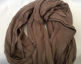 Jersey knit Taupe Infinity Scarf