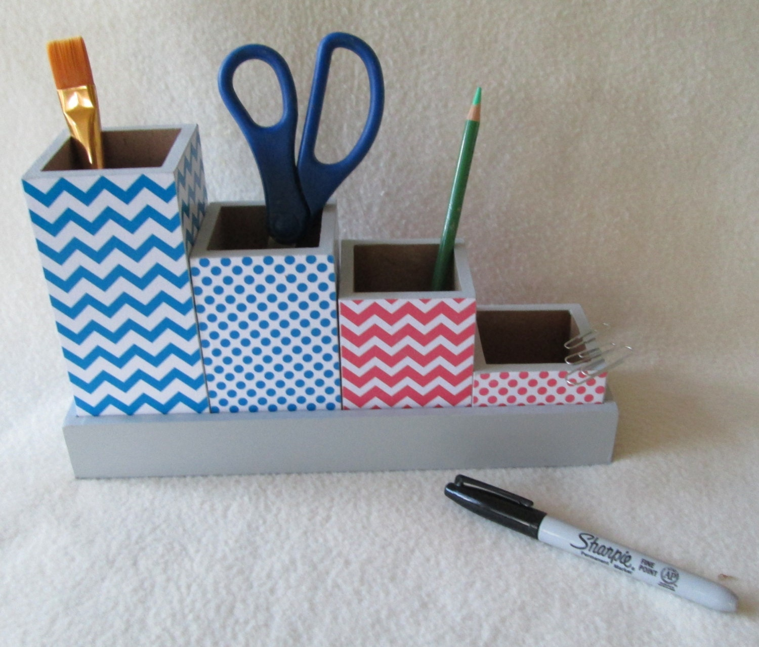 Pencil cup set desk organizer desk set organizer by msw2011 - Desk organizer sets ...