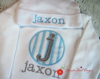 Personalized Coming Home Outfit, Hospital Take Home Outfit, baby boy gown, name hat for baby, first photo hat, newborn hospital hat boys