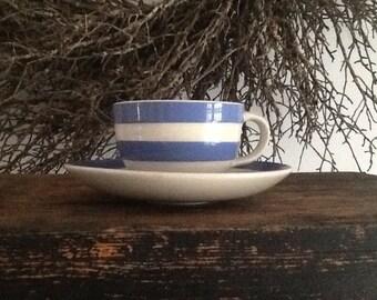 The original T.G. Green Cornish Blue demitasse cup/sauser