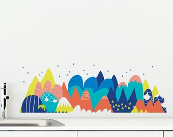 Melting Mountain Removable Wall Sticker | LSB0022WHT
