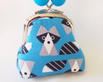 Big Bobble Coin Pouch Woodland Raccoon Ready to Ship