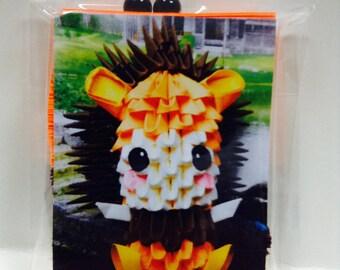 3d origami  Lion Kid
