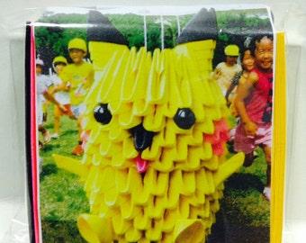 3D Origami Pikachu  Kit