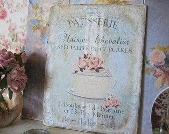 Maison Chevalier Sign/Print for Dollhouse Miniature