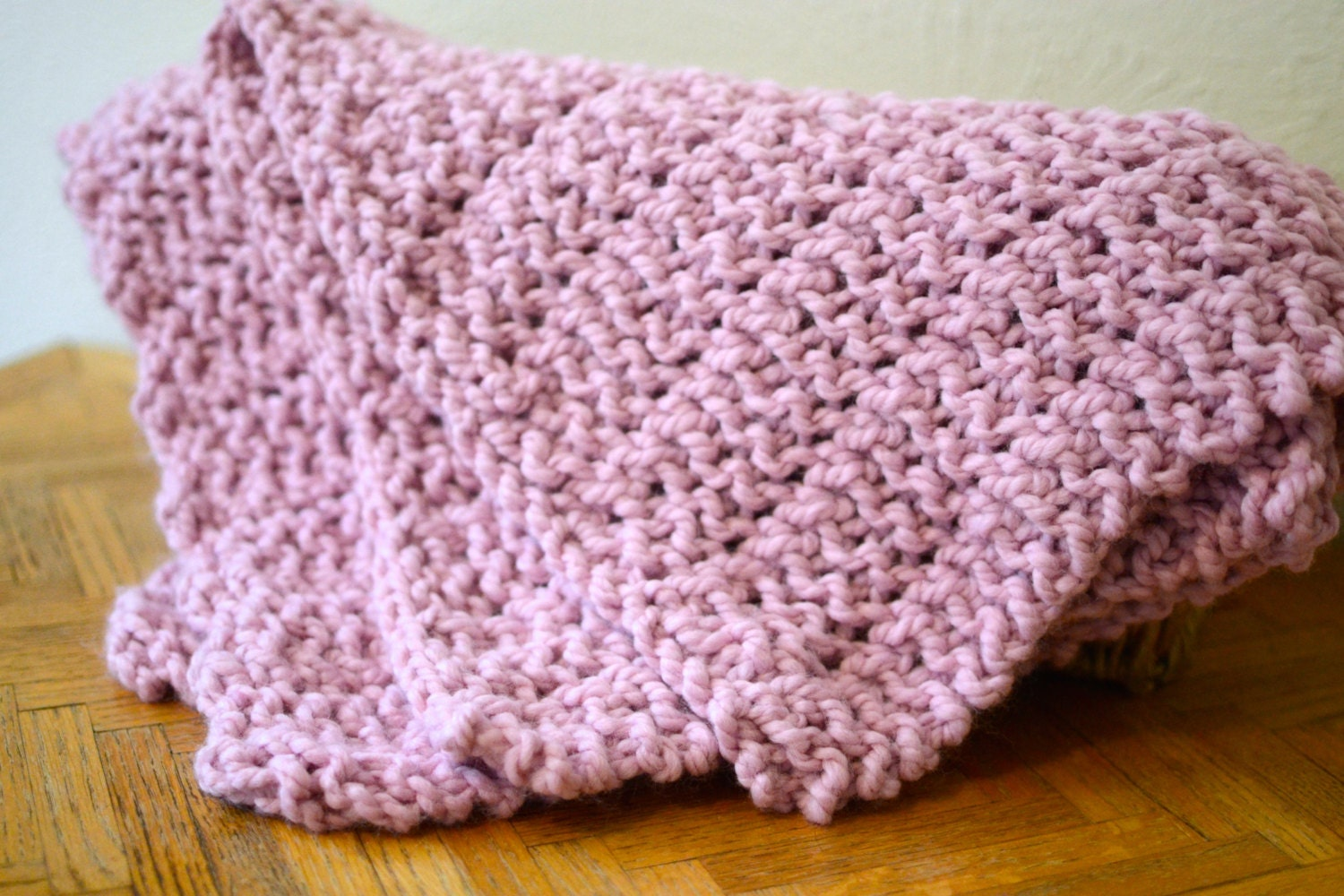 Baby Blanket // Chunky Knit Blanket // Hand by StarSeventeen