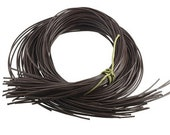 Greek Leather Pre-Cut Round Cord, Brown, 90cm x 1.8mm