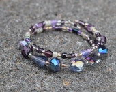Grape Slushie Bangled Bracelet - Quality - Jamaican Missions - Layered - Purple - Silver - Grape - One Size Fits All