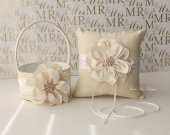 Ring Bearer Pillow & Flower Girl Basket- (Custom Made to Order)