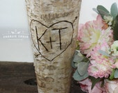 Rustic Personalized Birch Vase, Wedding Gift, Valentine, Wedding Decor, Home Decor, Bridal Shower Gift, Housewarming Gift, Valentines Day