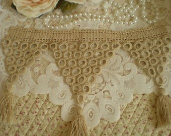 Vintage Ivory Hand Crocheted Tatted Tassel Trim Collector Quality From SincerelyRaven On Etsy