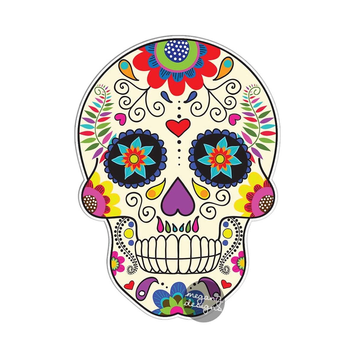 Flower Sugar Skull Art Popular Items For On Etsy