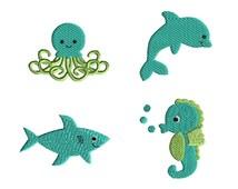 Mini Sea Friends Machine Embroidery Designs-INSTANT DOWNLOAD