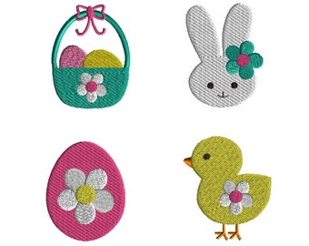 Mini Easter Machine Embroidery Design Set-INSTANT DOWNLOAD