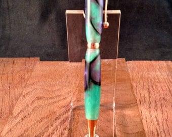 acrylic twist pen (copper trim)