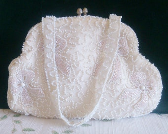 Beaded Purse Made by Hand from Walborg West Germany