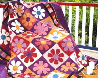 BOHEMIAN RHAPSODY | pdf Quilt Pattern | Patterns | Quilt Patterns | Floral Quilts | Flowers | Applique Quilts | Happy Quilts | Modern Quilts