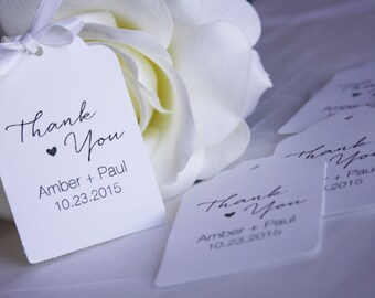 Thank You Wedding Favor Tags, Favor Tags, Wedding Thank You Tags, Thank You Tags, Wedding Favor