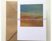 Fine Art Greeting Card, Beach, Contemporary Landscape, Seascape, Kylie Fogarty, Blank Greeting Card