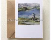 Fine Art Greeting Card, Bird, Contemporary Landscape, Seascape, Kylie Fogarty, Blank Greeting Card