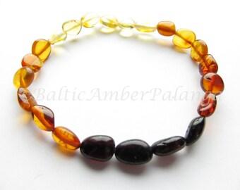 Baltic Amber Rainbow Color Bracelet