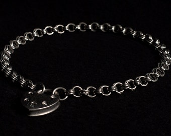 Stainless Steel Chainmail Collar/Necklace, Japanese 6:3 weave (6mm rings)