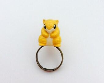 Really cute Sandshrew Pokemon ring.