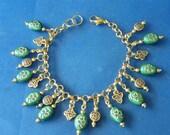 OOAK! St. Patrick's Day Charm Bracelet! Shamrocks, Celtic Knots, Charm Bracelet, Irish Bracelet, Good Luck Bracelet, Teen, Woman's Bracelet