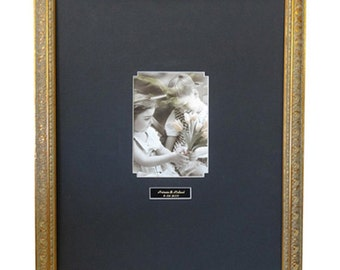 graduation signature antique gold frame a1 black or white mat 16x 20 or 20x 24 vertical or horizontal