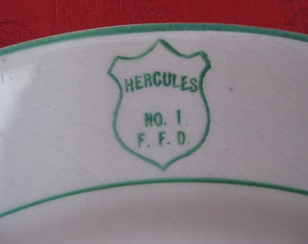 Vintage Fire House Plate