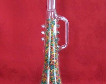 Vintage LARGE Glass Trumpet Bottle