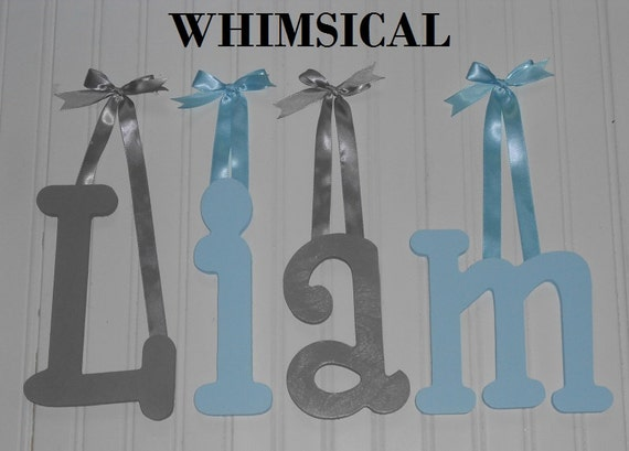 sale 8 size painted wooden wall letters whimsical With whimsical font wooden letters