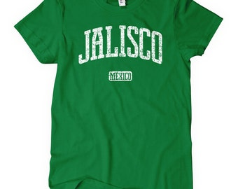 Women's Jalisco Mexico Tee - S M L XL 2x - Ladies Jalisco Shirt - 4 Colors