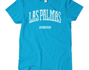 Women's Las Palmas Gran Canaria Tee - S M L XL 2x - Ladies Canary Islands Spain Shirt - 4 Colors
