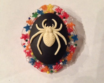 Sprinkles and Spider Pin