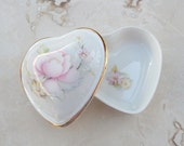 Heart Shaped Box  --  Renaissance Fine Bone China Heart Box  --  Bone China Heart Box Made in Canada  --  Bone China Heart Box