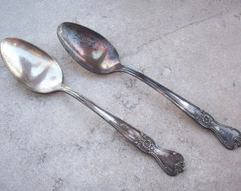 Old Company Plate Serving Spoons