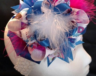 Pink Blue and Purple Disney Doc McStuffins Over-The-Top Hair Bow Hairbow