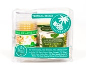 Tropical Breeze Gift Set - All Natural Body Product Gift Set - Lotion, Cologne, Lip Balm, Deodorant
