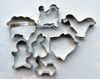 Metal Cookie Cutters Poodle Rabbit Sheep