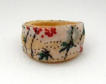 Wood and fabric ring
