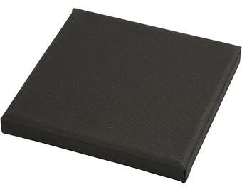 Black Artist Canvas Panel - 15cm x 15cm - Stretched Painting Base - Paint Draw Art