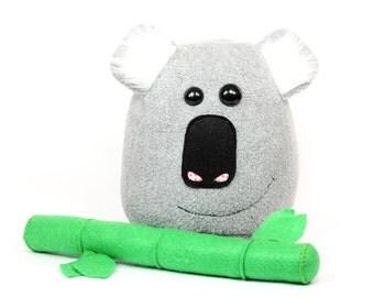 Koala Bear Stuffed Toy, Koala Plush Toy, Koala Soft Toy, Koala Pillow, Grey Koala Bear Plushie