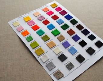 100% Wool Felt - Colour Chart
