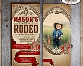 Cowboy Photo Invitation | Rodeo Birthday Invitation | Wild West Party Invitation | Country Western Invite | Address Labels | Printable