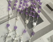 25 pcs First communion favors/ Mini  Rosary Baptism Favors/ Baptism favors/ Religious Mini Rosary/ lavender mini rosaries/girl favors Narelo