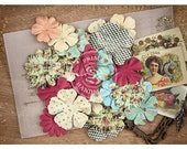 "Paper Flower Pieces, Ephemera by Prima Marketing ""Cigar Box Secrets"" - 36 Pack - #578589"