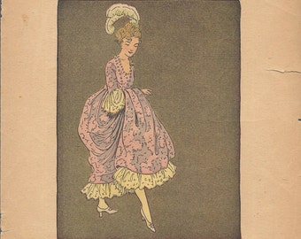 Vintage Illustrations of Cinderella from Little Tots Series No. 401, Published by M. A. Donohue